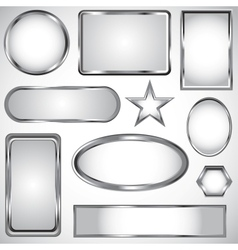 Silver label collection vector