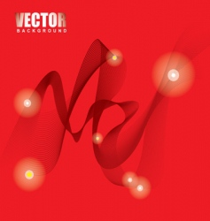 stella red ribbon background vector image vector image