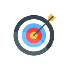 target with arrow goal achieve concept premium vector image