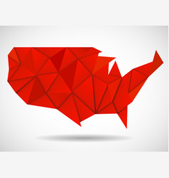 usa map in geometric polygonal style geometric vector image