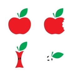 Very tasty apple vector image