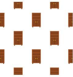Wooden cabinet pattern flat vector