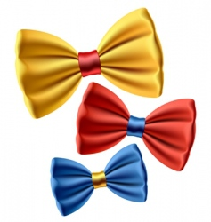 Set of colored bow ties vector