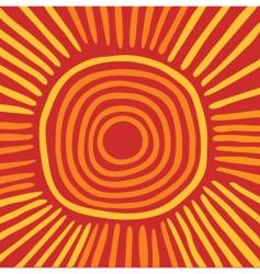 Australian sun vector image