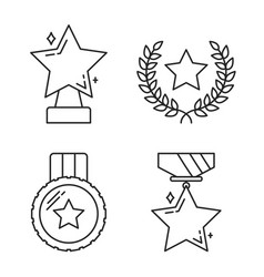 Stars line icons vector