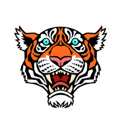A tiger head vector