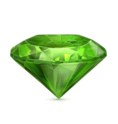 Emerald green icon vector image