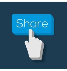 Share Button with Hand Shaped Cursor vector image