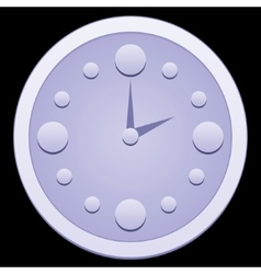 Dial hours in the dark vector