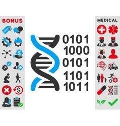 Genome code icon vector