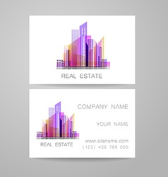 real estate business card vector image