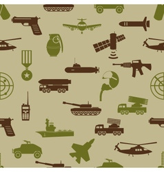 Military colors icons theme seamless pattern eps10 vector