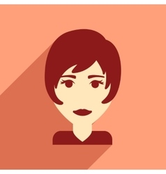 Flat web icon with long shadow women haircut vector