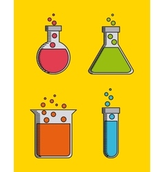 Science lab design vector
