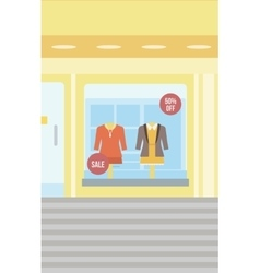 Background of boutique window vector
