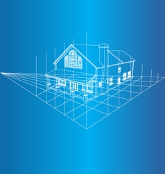 House 3d background vector