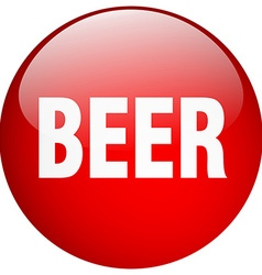 Beer red round gel isolated push button vector