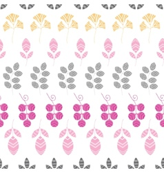 Abstract pink yellow and gray leaves stripes vector image vector image