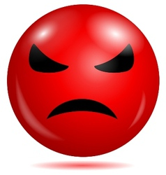 Angry smiley emoticon vector image vector image