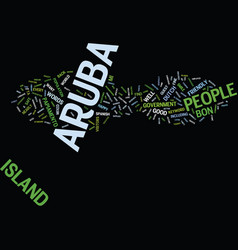 Aruba people text background word cloud concept vector