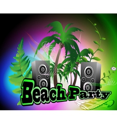 beach party backgrpund vector image vector image