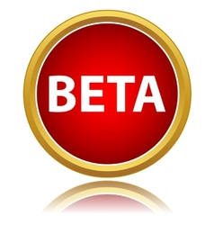 Beta status icon vector