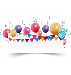 birthday celebration banner vector image vector image