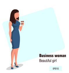 Character beautiful business woman 10 vector