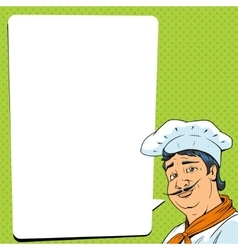 Chef show okay sign pop art style vector image