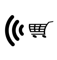 Contactless payment icon vector