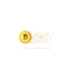 Cryptocurrency concept vector