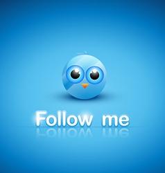 cute blue social bird vector image