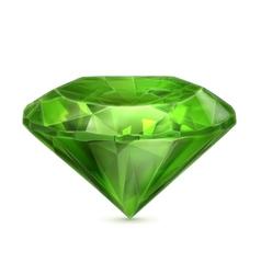 Emerald green icon vector