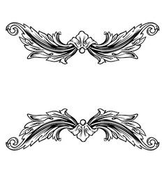 Floral label frame 9 vector image vector image