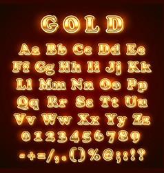 golden english alphabet on khaki background vector image