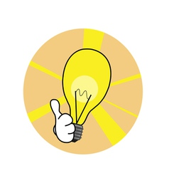 Good idea lamp vector