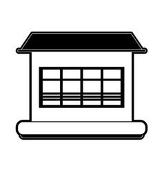 house or home sideview icon image vector image vector image