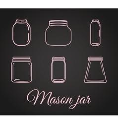 Jar mason fashion glass vector image