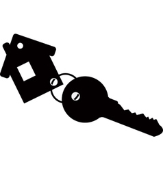Keychain house with key vector image