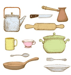 Kitchenware Stock vector image vector image
