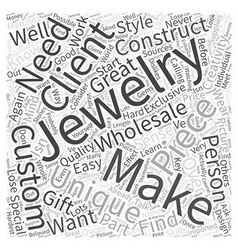 Making custom jewelry wholesale word cloud concept vector