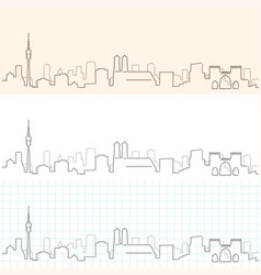 Munich hand drawn skyline vector