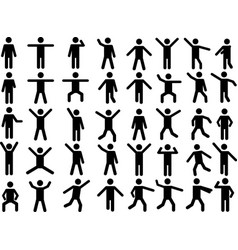 Pictogram people vector image vector image