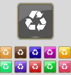Processing icon sign set with eleven colored vector