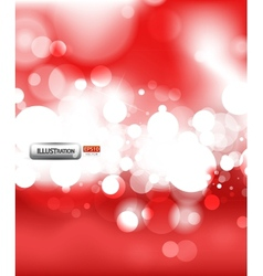 red shiny abstract lights background vector image
