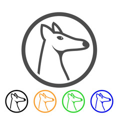 Rounded fox head icon vector