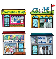 Shops set vector image vector image