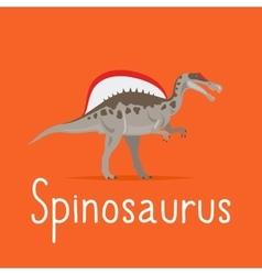 Spinosaurus dinosaur colorful card vector image vector image