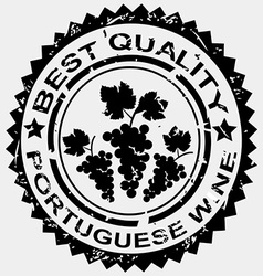 Stamp for Portuguese wine vector image vector image