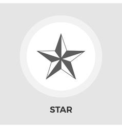 Star flat icon vector